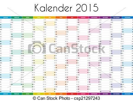 Art Design Kalender 2015 | drawing of kalender 2015 german version csp21297243
