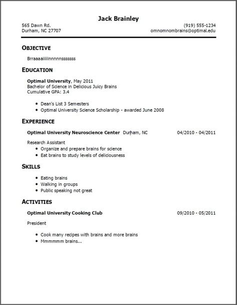 First Time Job Resume Template by Resume Templates Teenager How To Write Cv For First Job