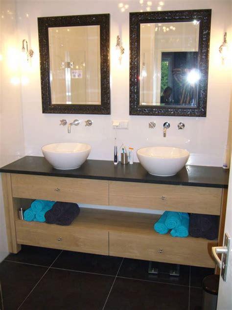 badmeubel natuursteen badkamermeubel eikenhout natuursteen te boveldt
