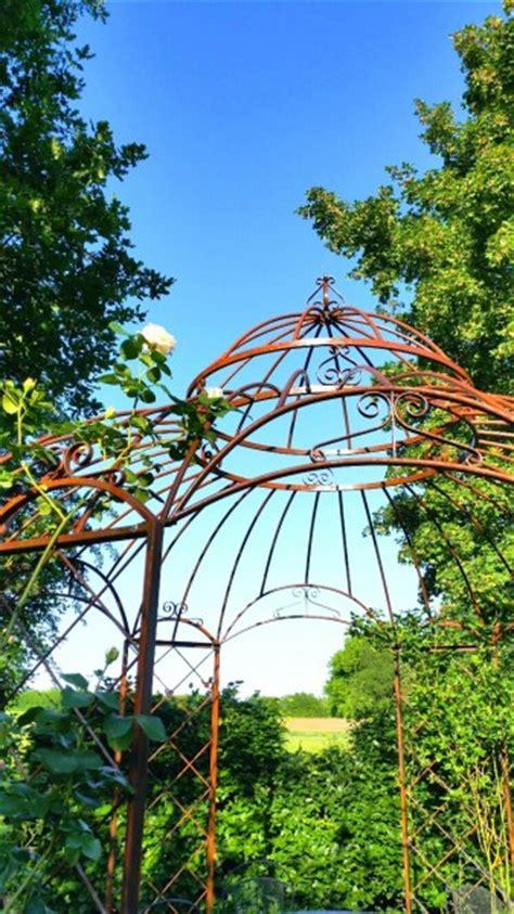 romantik pavillon metall gartenpavillon metall romantik rost 216 290cm