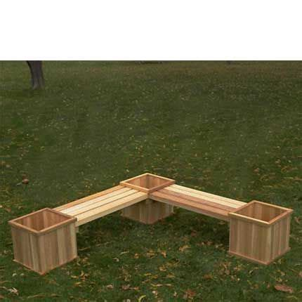 Outdoor Planter Bench by Cedar Corner Planter Bench Outdoor