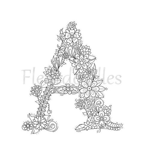 awesome mandala coloring pages letter h design printable coloring malseite zum ausdrucken buchstabe a floral von
