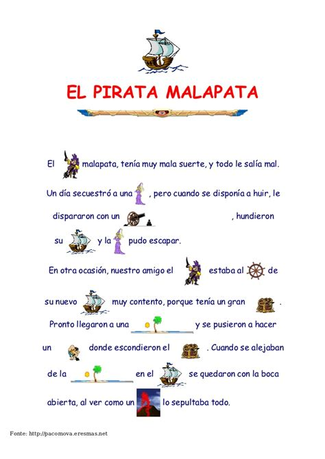 el pirata malapata cuento pirata