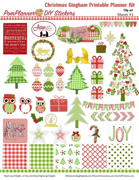printable christmas planner stickers free christmas planner stickers printable tags freebie