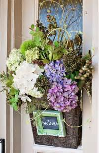 Front Door Flower Arrangements Tracy S Trinkets And Treasures Front Door Floral For The Front Door