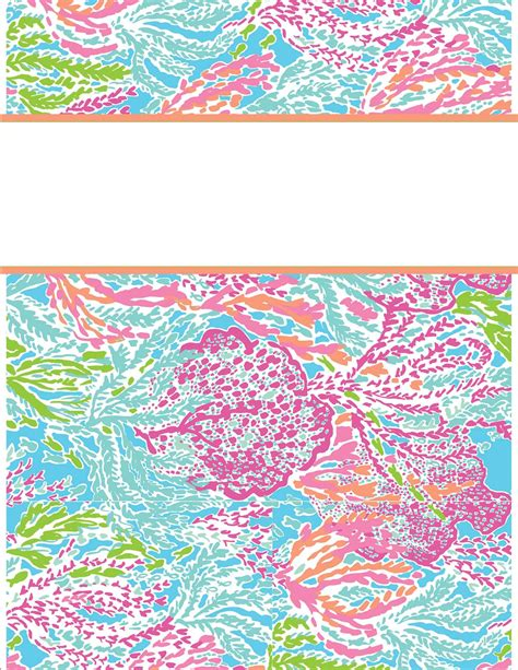 lilly pulitzer binder templates my binder covers happily