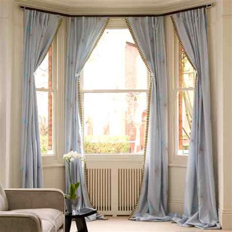 Images Of Bay Window Curtains Decor Go For Drapery 9 Creative Decorating Ideas For Bay Windows Popsugar Home