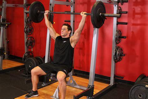 front shoulder pain bench press barbell shoulder press exercise guide and video
