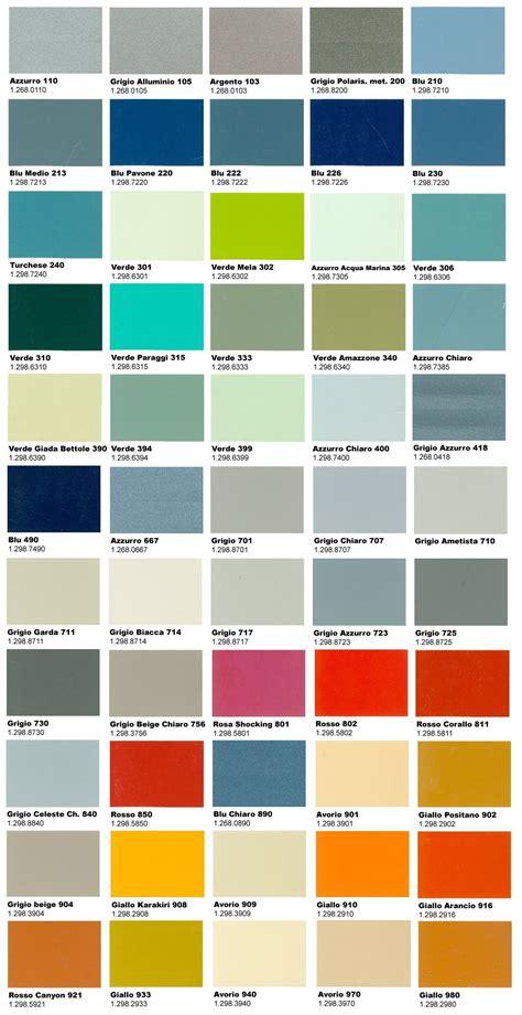 gamma gt werte tabelle la gamma definitiva di colori originali vespa pinteres