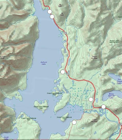 where is lake jackson on map grand tetons jackson lake area
