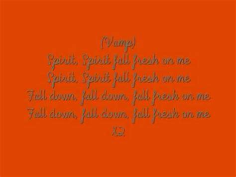 Luther Barnes Spirit Fall Lyrics luther barnes spirit fall lyrics
