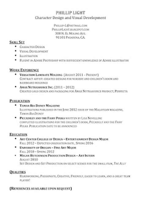 Resume Bullet Points For Receptionist The Of Phillip Light Resume