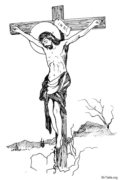 free jesus on the cross coloring pages