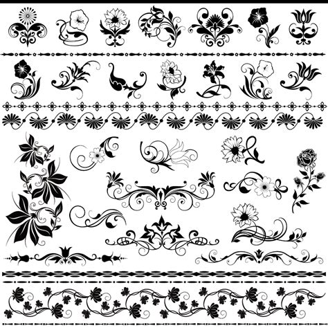 pattern para ai 美しい花の飾り罫 beautiful lace pattern square material イラスト素材