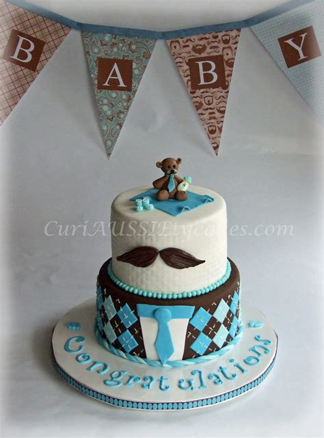 Baby Shower Mustache Cake by Mustache Baby Shower Cake Cakecentral