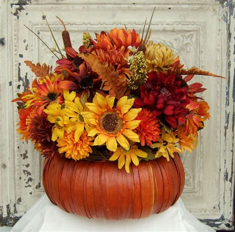 fall floral arrangements fall floral arrangement thanksgiving centerpiece by countryprim