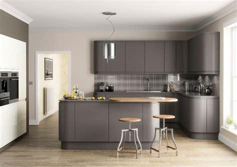 Grey Handleless Kitchen grey kitchens grey matt handleless kitchens