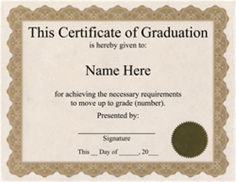 template for graduation certificate award certificates design paper poster board