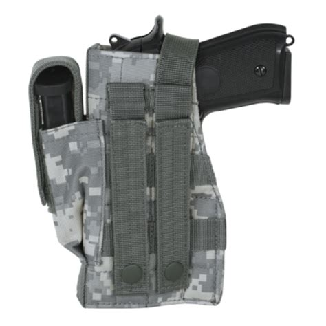 voodoo tactical molle holster with attached mag pouch