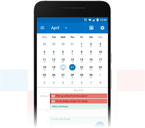 Calendar App Android Introducing The Wunderlist Calendar App For Outlook On
