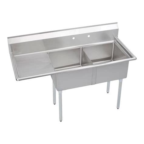 2 Sinks In Kitchen Elkay Se2c18x18 L 18x 24 In Two Compartment Sink Etundra