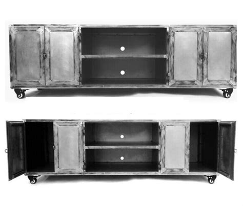 Industrial Metal Tv Cabinet by Industrial Retro Do The Wrought Iron Loft Metal