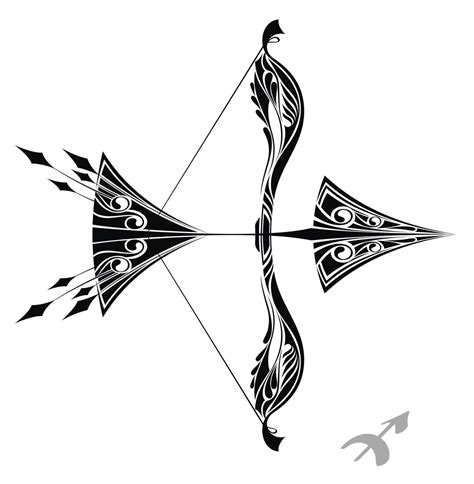 tribal sagittarius tattoo designs 22 bow and arrow designs