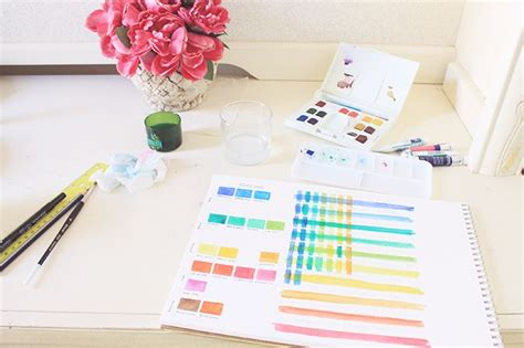 the basic watercolor palette colors you need to