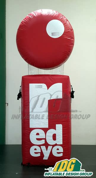 red design group instagram advertising shapes and logos from inflatable design group