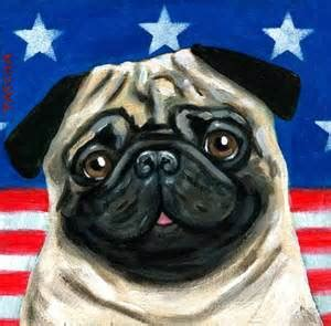 patriotic pug wag your flag