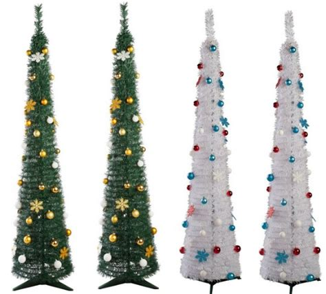 pop up 6ft green white christmas trees 163 15 94 163 14 94