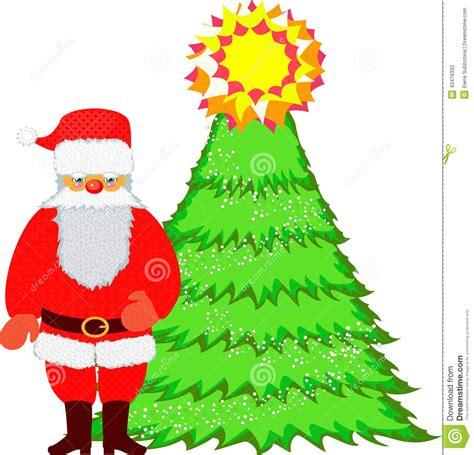 images of christmas tree and santa claus santa claus and christmas tree stock vector image 43476332