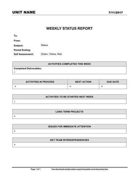 word templates for reports free download weekly status report template download free premium