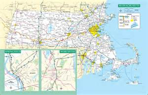 Massachusetts Road Map by Massachusetts Road Map