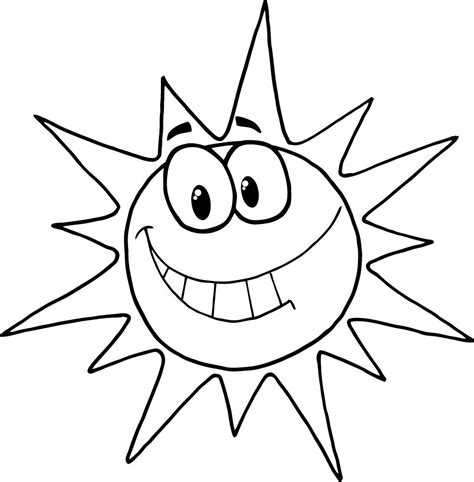 Sun Coloring Pages free printable sun coloring pages for