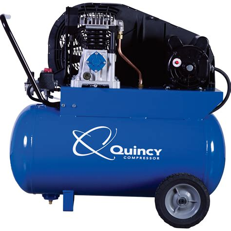 free shipping quincy single stage portable electric air compressor 2 hp 20 gallon