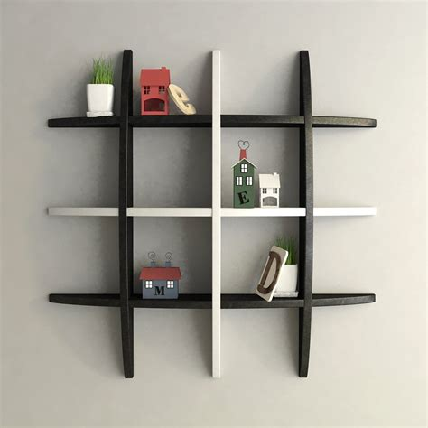 Average Shelf by Decorative Floating Globe Wall Shelves Black White