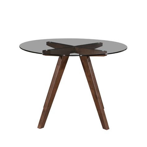 Scandi Dining Table Walnut Hjordis Scandi Dining Table Clear Glass Temple Webster