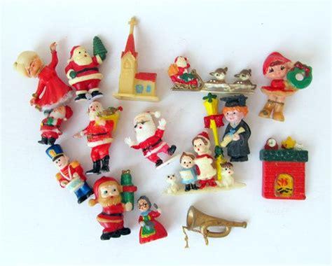 vintage miniature plastic christmas decorations