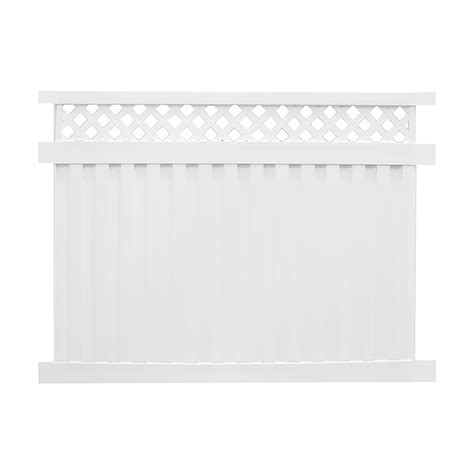 weatherables clearwater 6 ft x 6 ft white vinyl privacy