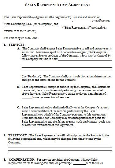 sales rep contract template how to create your own sales contract template with