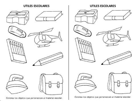 imagenes de utiles escolares en caricatura para colorear colorea utiles escolares