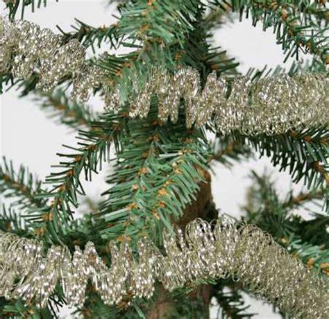 9 foot vintage look silver tinsel garland christmas