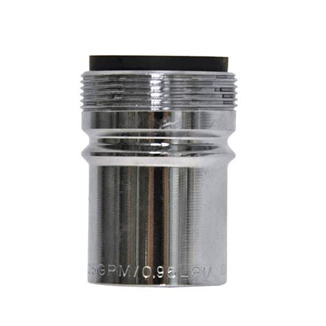 Water Faucet Aerator by 0 25 Gpm Dual Thread Water Saving Faucet Aerator In Chrome Danco