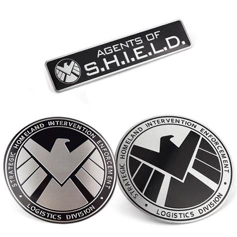 Sticker Logo Avenger Silver Chrome marvel agents of shield badge chrome metal car sticker emblem decals 2 ebay