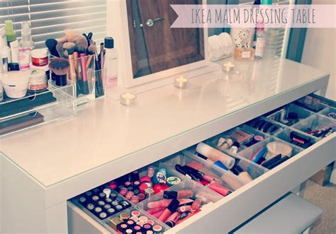 beauty blogger vanity table suggestions my makeup storage ikea malm dressing table couture