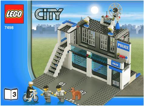 tutorial lego city lego police station instructions 7498 city