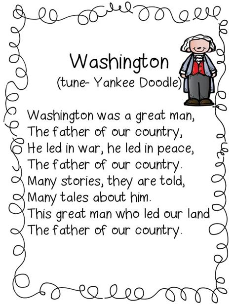 biography of george washington for first graders first grade wow washington poem social studies