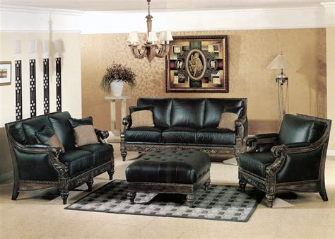 Black Living Room Chairs Black Living Room Furniture Set Marceladick
