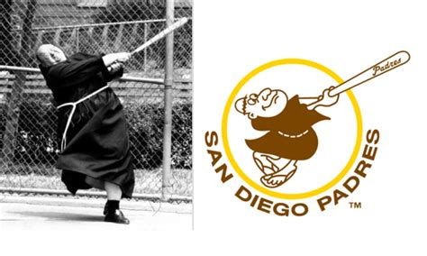swinging friar padres swinging friar logo lobshots